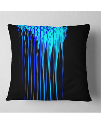 Design Art Designart Blue Flames Fractal Pattern Abstract