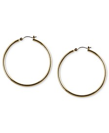 "Gold-Tone 2"" Tube Hoop Earrings"