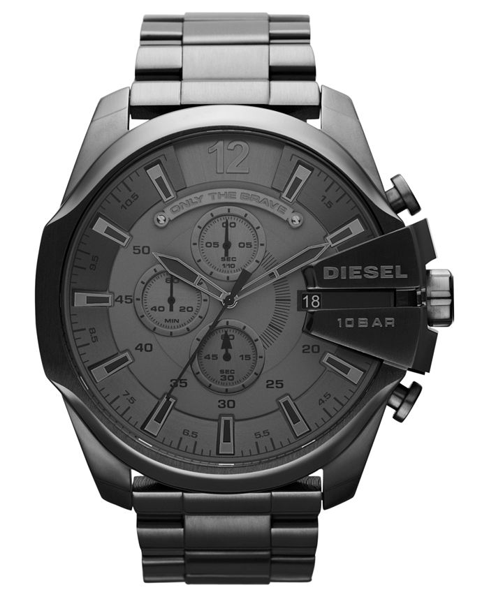 Diesel - Watch, Men's Chronograph Gunmetal Ion-Plated Stainless Steel Bracelet 51mm DZ4282