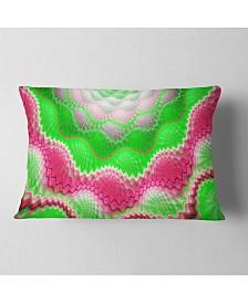 "Designart Snake Skin Exotic Flower Abstract Throw Pillow - 12"" X 20"""