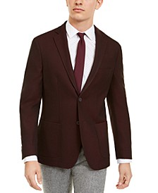 Men's Slim-Fit Burgundy Knit Sport Coat, Created For Macy's