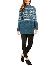 Fair Isle Tunic Sweater, Created For Macy's