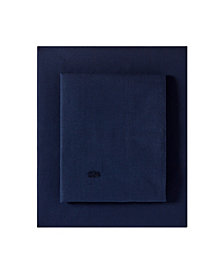 Lacoste Washed Percale Solid Queen Sheet Set
