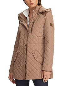 Lauren Ralph Lauren Faux-Leather-Trim Quilted Jacket