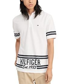 Tommy Hilfiger Men's Hemenway Regular-Fit Stripe Logo-Print Polo Shirt