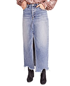 Rhiannon Maxi Jean Skirt