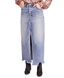 Free People Rhiannon Maxi Jean Skirt