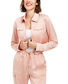 Juniors' Cargo Cropped Jacket, Created for Macy's