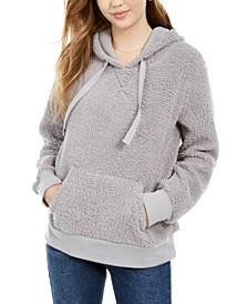 Juniors' Sherpa Pullover Hoodie