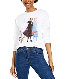Disney Juniors' Long-Sleeve Cotton Frozen Graphic T-Shirt
