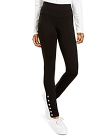 Juniors' Snap-Hem Pull-On Ponte Pants