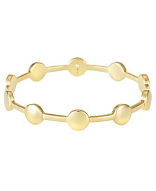 14K Gold-Plated Bangle Bracelet
