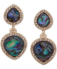 Gold-Tone Stone & Crystal E-Z Comfort Clip-On Earrings