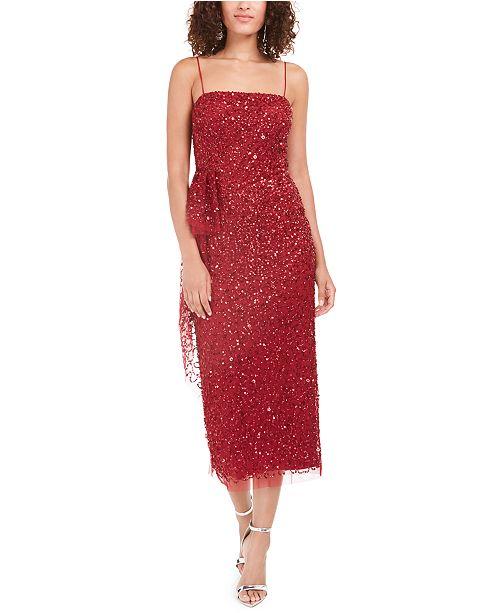 Adrianna Papell Beaded Column Dress