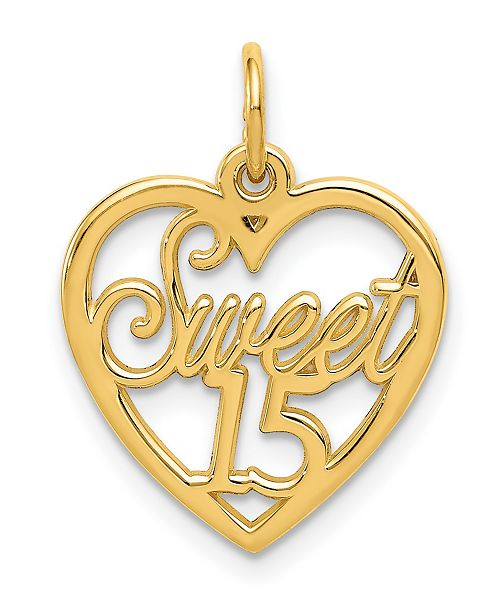 Macy's Sweet 15 Charm in 14k Yellow Gold