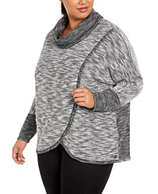 Plus Size Cowl-Neck Sweatshirt