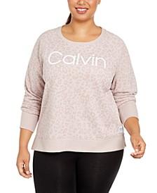 Plus Size Animal-Print Sweatshirt