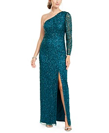 Beaded Column Gown