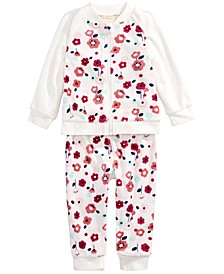 Baby Girls 2-Pc. Floral-Print Jacket & Jogger Pants Set, Created For Macy's
