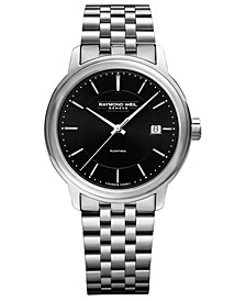 Men's Swiss Automatic Maestro Stainless Steel Bracelet Watch 40mm