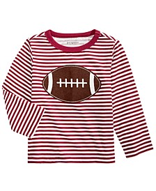 Toddler Boys Cotton Striped Football T-Shirt, Created For Macy's