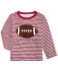 First Impressions Baby Boys Cotton Striped Football T-Shirt, Created For Macy's