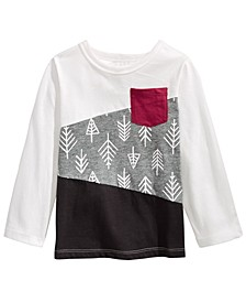 Baby Boys Cotton Long-Sleeve Colorblocked T-Shirt, Created For Macy's
