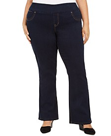 Plus Size Ella Pull-On Bootcut Jeans, Created For Macy's