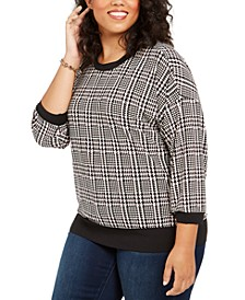 Plus Size Plaid Sweater
