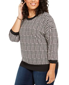 Tommy Hilfiger Plus Size Plaid Sweater