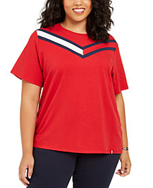 Tommy Hilfiger Sport Plus Size Colorblocked T-Shirt