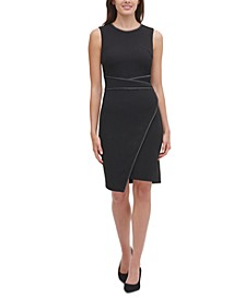 Piped Sheath Dress