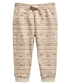 Baby Boys Geo-Print Jogger Pants, Created for Macy's