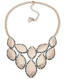 """lonna & lilly Gold-Tone Beaded Leaf Statement Necklace, 16"""" + 3"""" extender"""