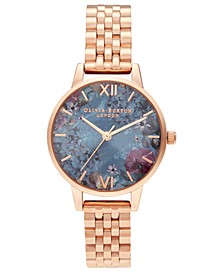 Women's Under The Sea Rose Gold-Tone Stainless Steel Bracelet Watch 30mm