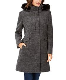 Faux-Fur-Hood Walker Coat