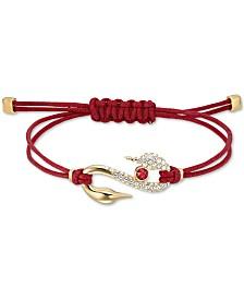 Swarovski Pavé S-Hook Cord Slider Bracelet