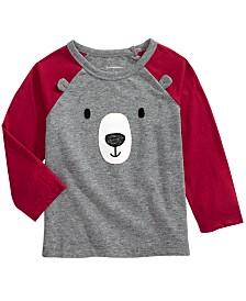 First Impressions Baby Boys Teddy Bear Long-Sleeve Raglan T-Shirt, Created for Macy's