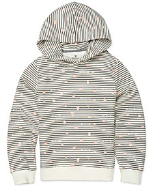 Big Girls Knew Wave Striped Fleece Hoodie