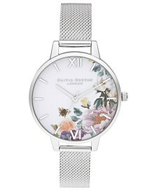 Women's Enchanted Garden Stainless Steel Mesh Bracelet Watch 34mm