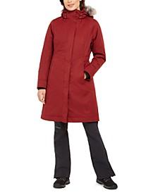 Chelsea Hooded Faux-Fur-Trim Coat