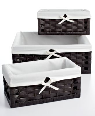 Delicieux Household Essentials Storage Baskets, Set Of 3 Paper Rope Utility
