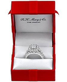 Certified Diamond Princess Bridal Set (4 ct. t.w.)