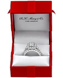 Marchesa Certified Diamond Princess Bridal Set (4 ct. t.w.)