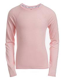 Calvin Klein Performance Big Girls Tie-Back Logo-Print T-Shirt