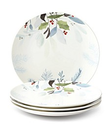 Frosted Pines Accent Plate, Set of 4