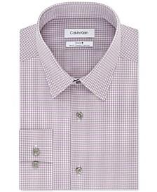 Men's STEEL Slim-Fit Non-Iron Performance Stretch Check Dress Shirt