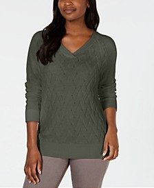Basket-Stitch Sweater, Created for Macy's
