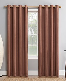 "Sun Zero Patina 52"" x 84"" Textured Blackout Curtain Panel"