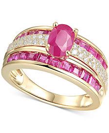 Certified Ruby (2-3/8 ct. t.w.) & Diamond (1/4 ct. t.w.) Ring in 14k Gold